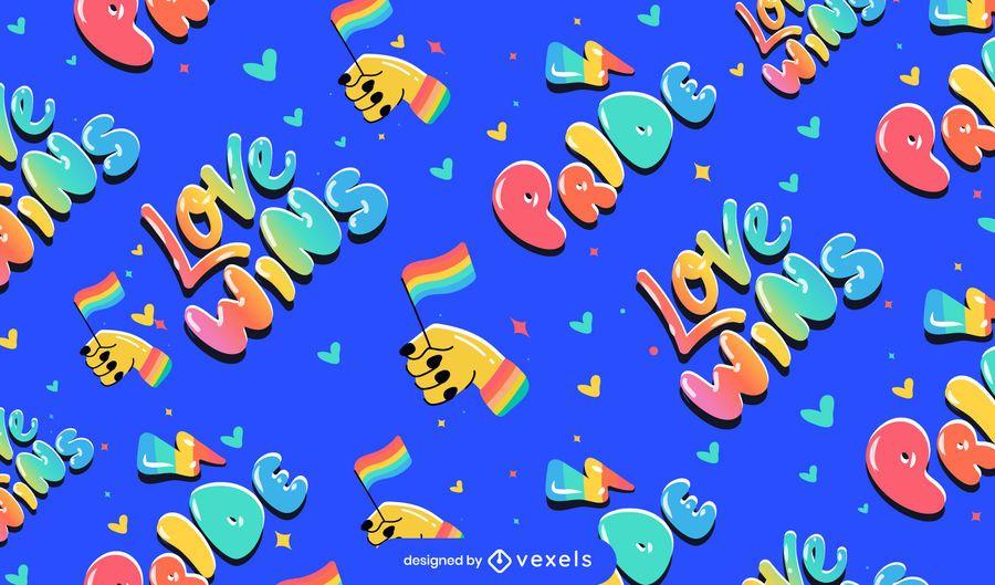 Orgulho amor ganha desenho de padrões