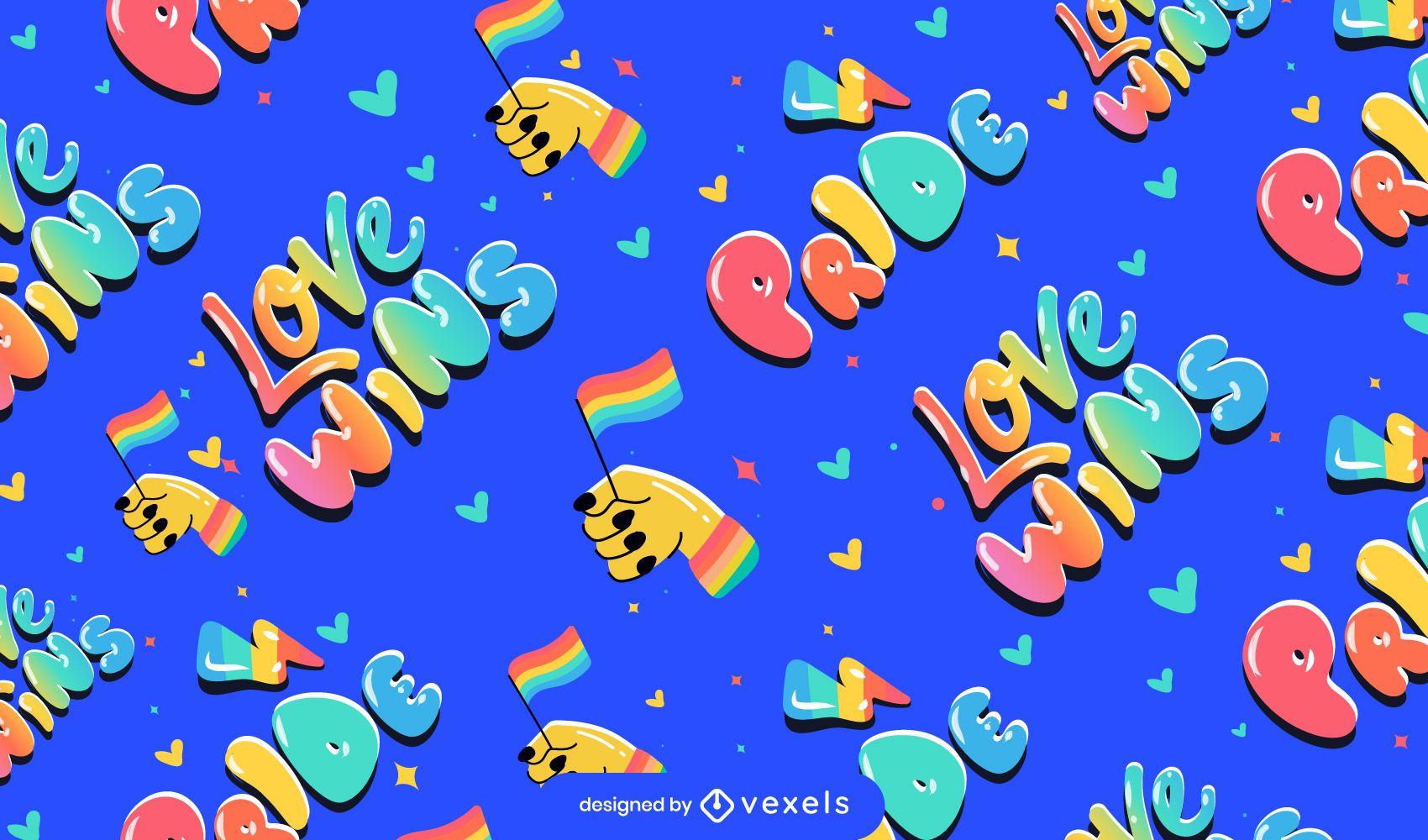 Pride love wins pattern design