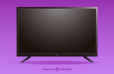 design de ilustração de tv plana