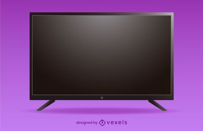 flat tv illustration design