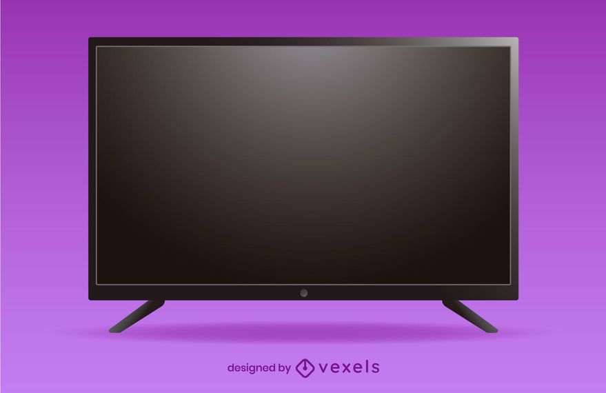 flat tv illustration design