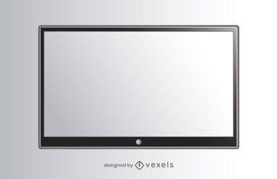 ilustração tv tela plana