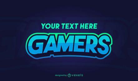 diseño de logotipo de jugadores