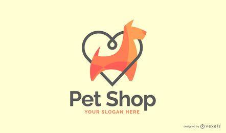 Design de logotipo de Pet Shop de amor
