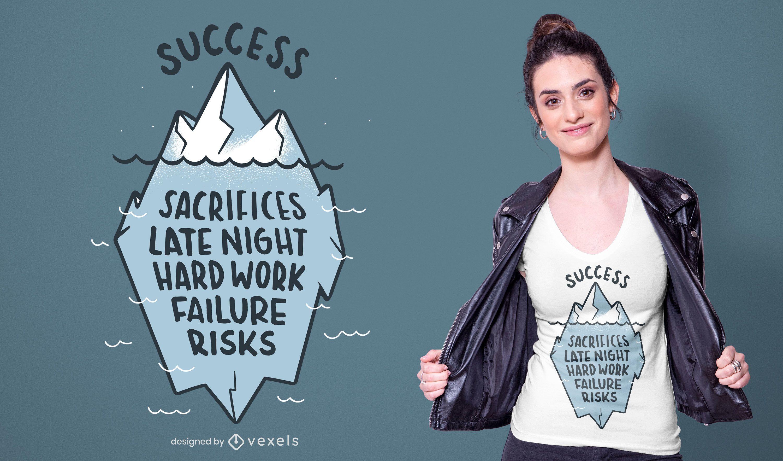 Success Iceberg Quote T-shirt Design