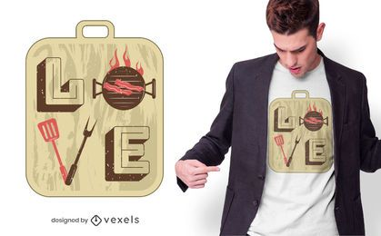Love BBQ T-shirt Design