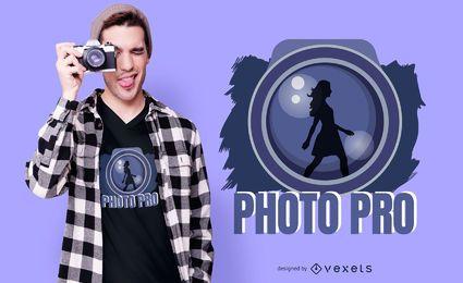 Design de camiseta Photo Pro
