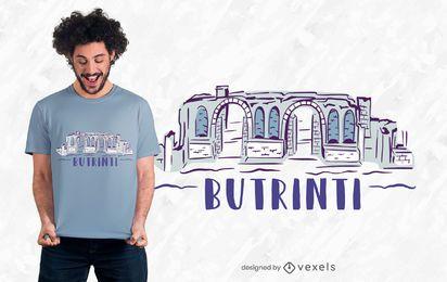 Diseño de camiseta Butrinti Ruins