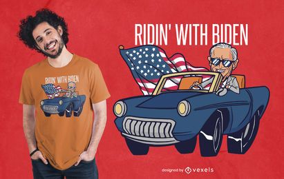 Diseño de camiseta Riding With Biden
