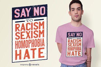 Diseño de camiseta Say No Quote