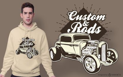 Design personalizado do t-shirt das citações do hot rod