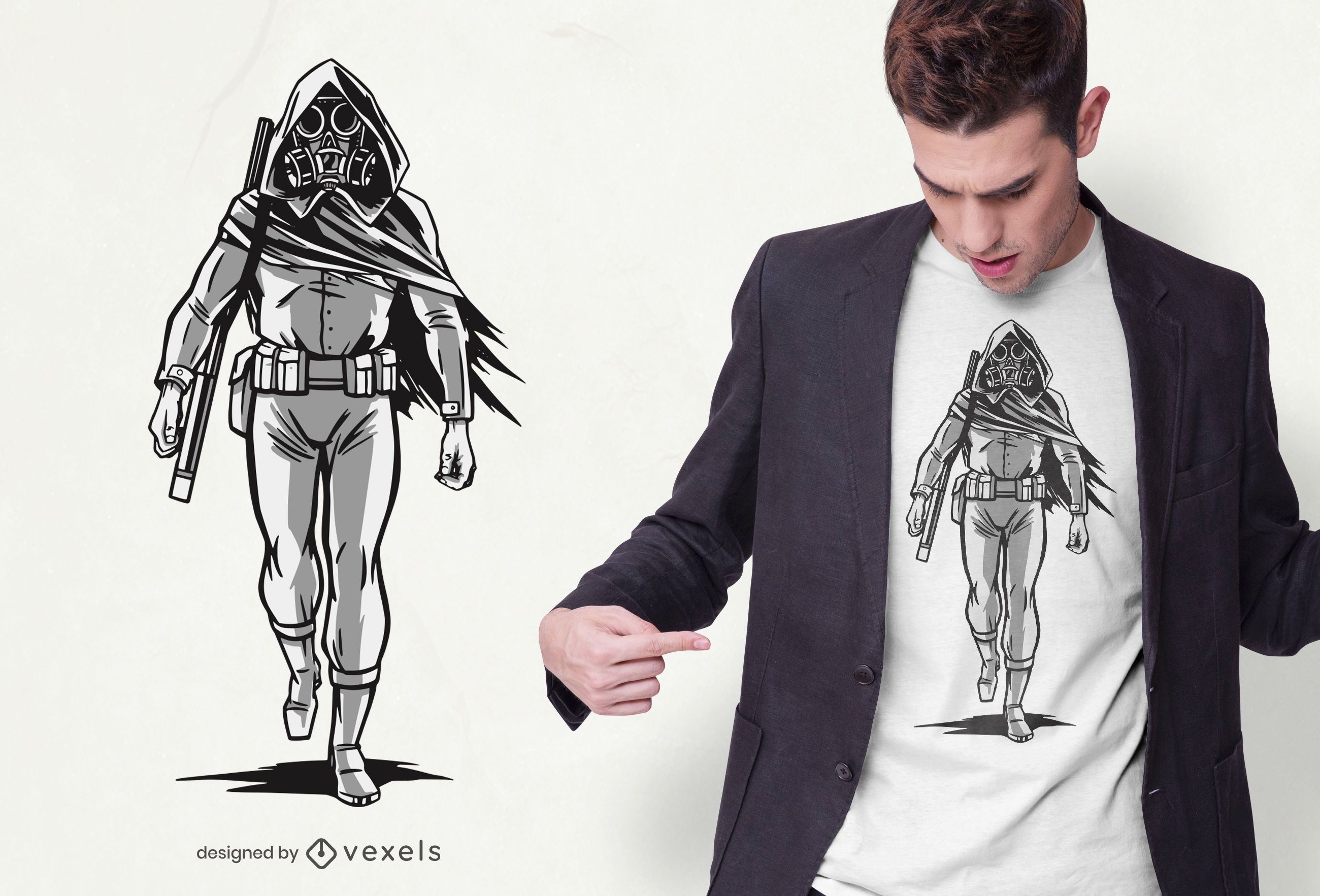 Apocalyptic Character T-shirt Design