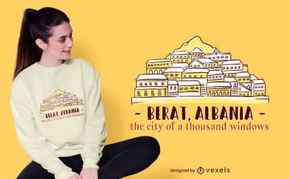 Berat Skyline T-shirt Design