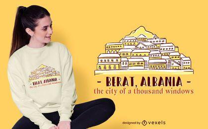Projeto do t-shirt da skyline de Berat