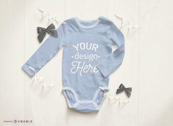Blue baby onesie mockup
