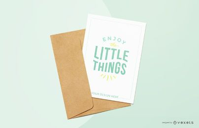blue greeting card mockup