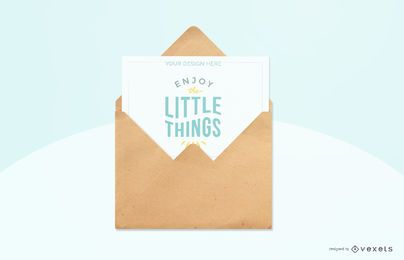 sky blue greeting card mockup
