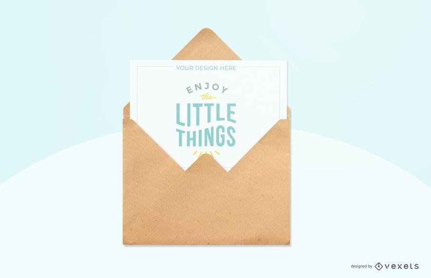 sky blue greeting card mockup