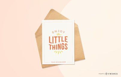 red greeting card mockup