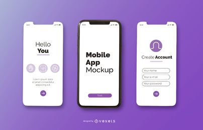 diseño de maqueta de aplicación móvil