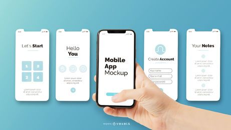 maqueta de aplicación móvil