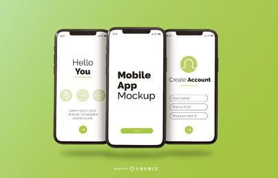 maquete de telefone de aplicativo móvel