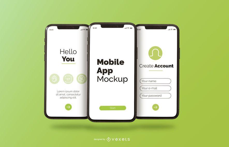 mobile app phone mockup