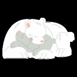 Ilustração de animais mãe e bebê ursos