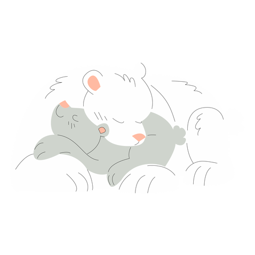 Animals mom and baby bears illustration Transparent PNG