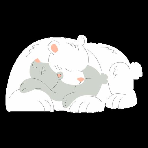 Animals mom and baby bears illustration
