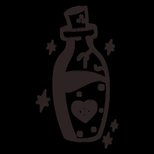 Anti valentines sticker booze