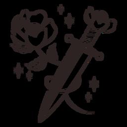 Anti Valentinstag Aufkleber Blumenmesser