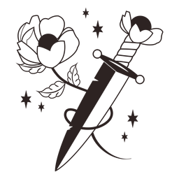 Cuchillo de flores anti valentines