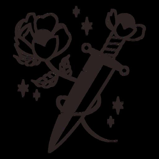 Anti valentines sticker flower knife