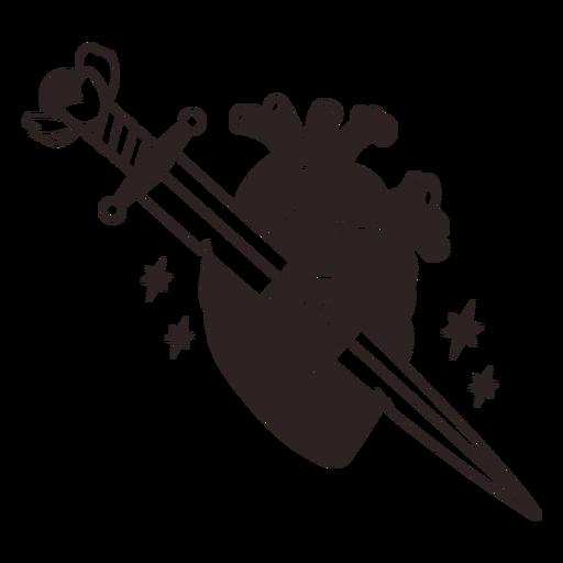 Anti valentines sticker knife heart Transparent PNG