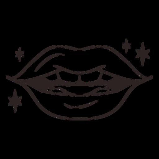 Anti valentines sticker mouth