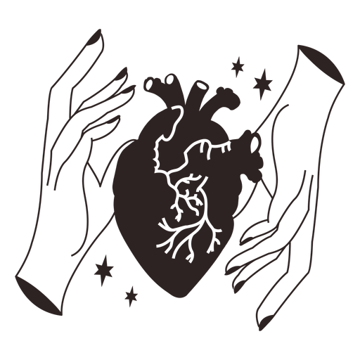 Anti valentines sticker sqeeze heart Transparent PNG