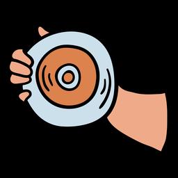 Lanzamiento de disco de atletismo dibujado a mano