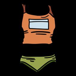 Shorts camisa de atletismo feminina desenhada à mão
