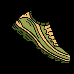 Mão de sapatos de atletismo desenhada