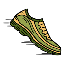 Zapatillas de atletismo dibujadas a mano