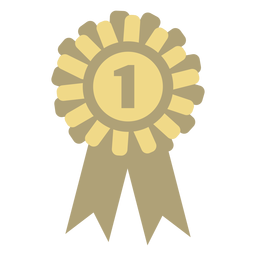 Award badge circle flat