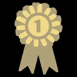 Círculo de distintivo de prêmio liso