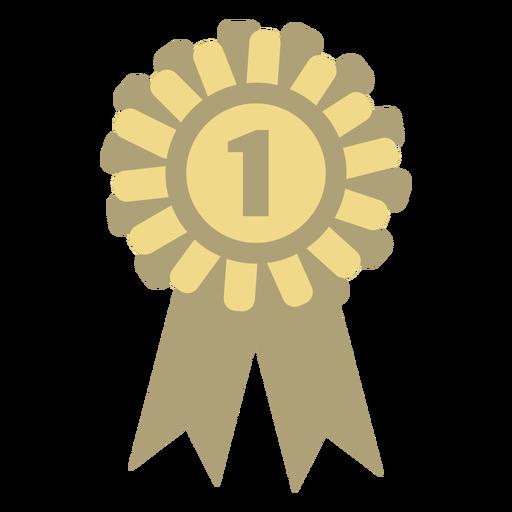 Award badge circle flat