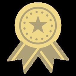 Prêmio distintivo círculo estrela plana