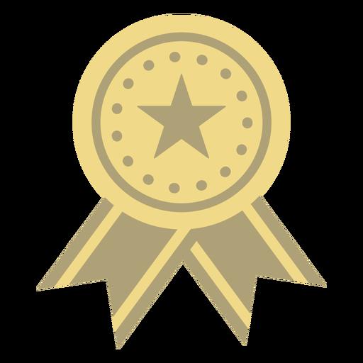 Estrela plana do emblema do prêmio com estrela plana