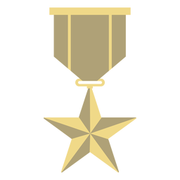 Award badge star flat