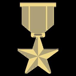 Premio insignia estrella plana