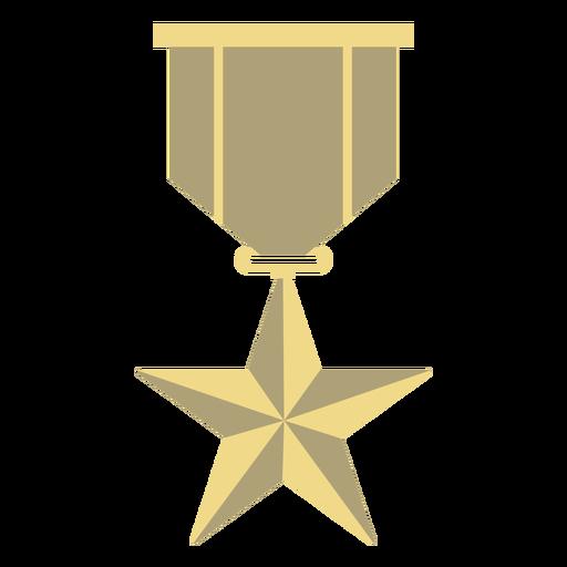 Award badge star flat