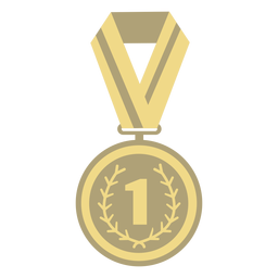 Award medal circle first flat